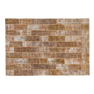 Usak Patchwork Handmade Brown Area Rug