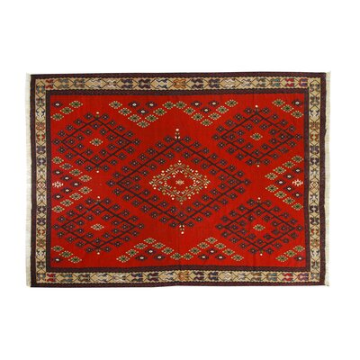 Hand-Kilim Red Area Rug