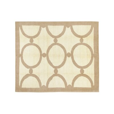 Hand-Knotted Cream Area Rug
