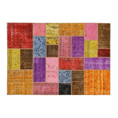 Hand-Knotted Red/Pink Area Rug