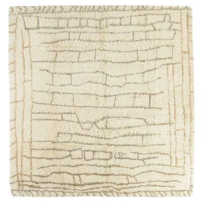 Tulu Hand-Knotted Cream Area Rug