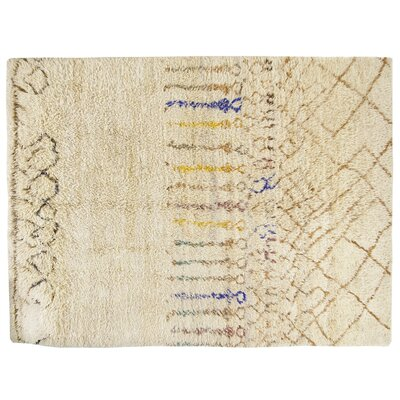 Tulu Hand-Knotted Beige Area Rug