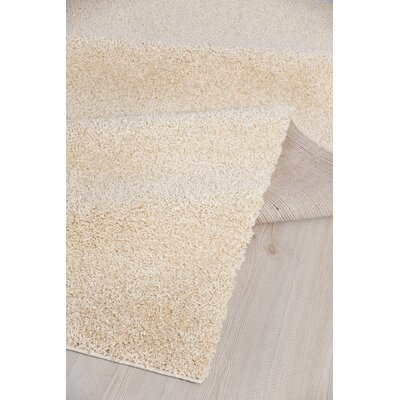 Rhys Platinum Shag Beige Area Rug Rug Size: Rectangle 52 x 72