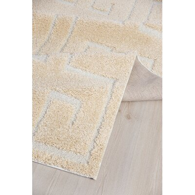 Orla Platinum Shag Beige Area Rug Rug Size: Rectangle 52 x 72