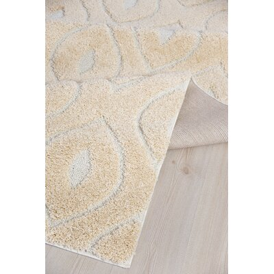 Darwin Platinum Shag Beige Area Rug Rug Size: Rectangle 4 x 6