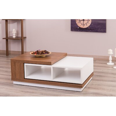 Morrison Contemporary Extendable Coffee Table Color: Matte White