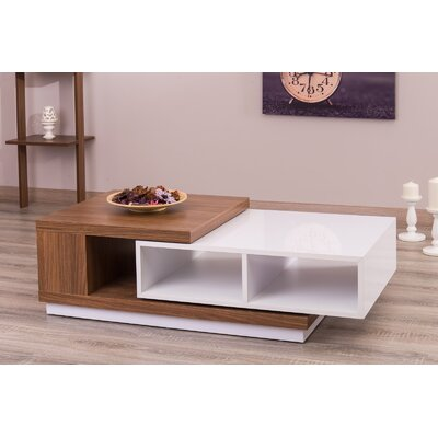 Morrison Contemporary Extendable Coffee Table Color: Glossy White