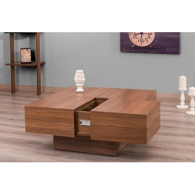 Pickrell Modern Coffee Table Color: Walnut