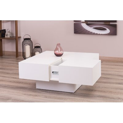 Reyer Coffee Table Color: White