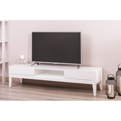 Pilning Modern 63 TV Stand Color: White Lacquer