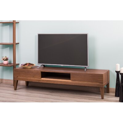 Pilning Modern 63 TV Stand Color: Walnut