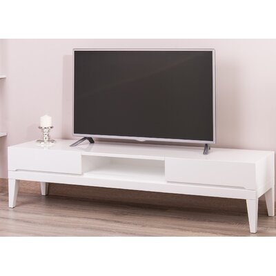 Ariah Lacquer Modern 63 TV Stand Color: White
