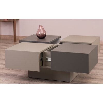 Morris Lacquer Lift Top Coffee Table Color: Gray