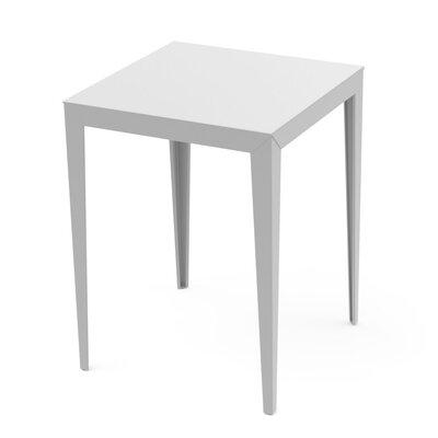 Zonda Bar Table Finish: White, Finish: Aluminum