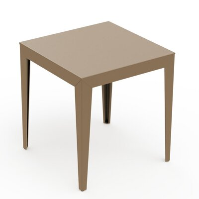ZEF Dining Table Material: Aluminum, Finish: Sand