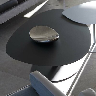 Low Coffee Table Material: Steel, Finish: Black