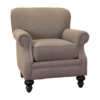Charles Fabric Rolled Armchair Fabric: Grey