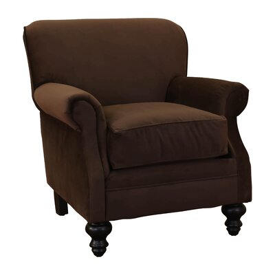 Charles Fabric Rolled Armchair Fabric: Chocolate