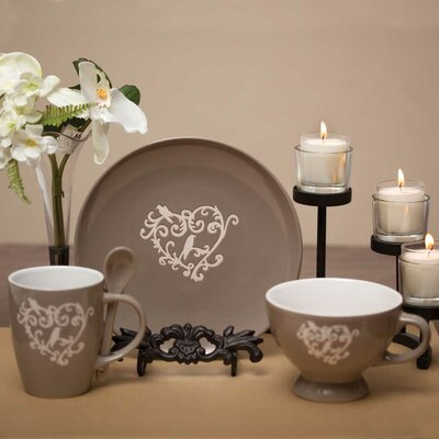 Heart Scroll 3 Piece Place Setting A2107SET