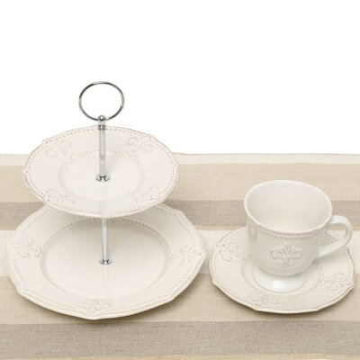 Fleur De Lis 5 Piece Tea Setting A2103SET