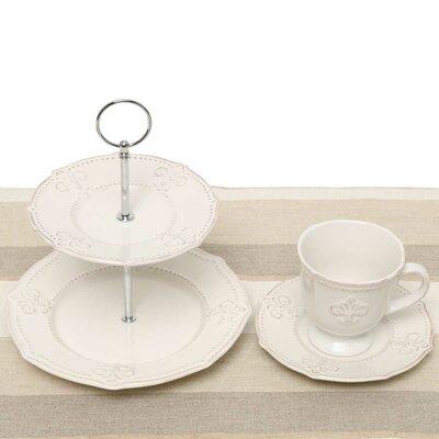 Fleur De Lis 5 Piece Tea Setting A2103SET