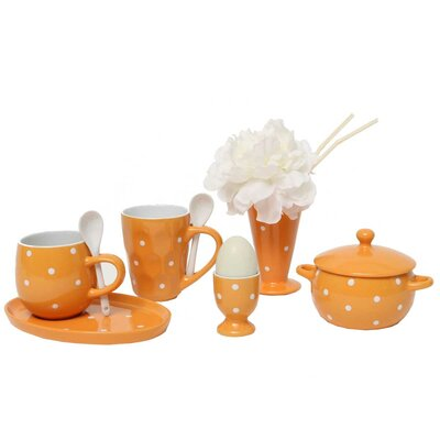 Polka Dot 8 Piece Place Setting Color: Orange A2110 ORSET