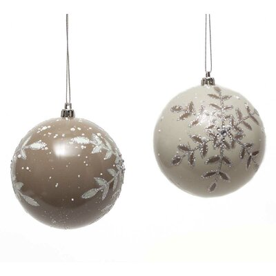 2 Piece Snowflake Ball Ornament Set R6447X2