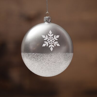 Snowflake Glass Ball Ornament R6533