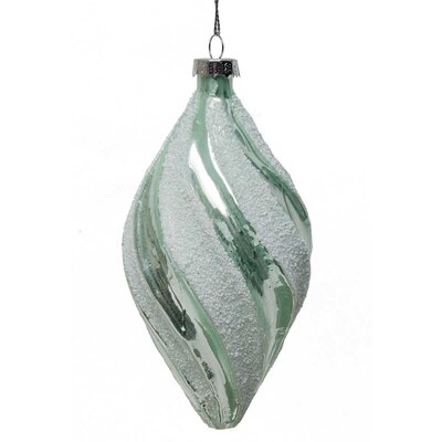 Swirl Glass Finial Ornament R6277