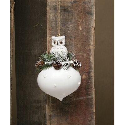 Snowy Woodland Owl Kismet Ornament R5554