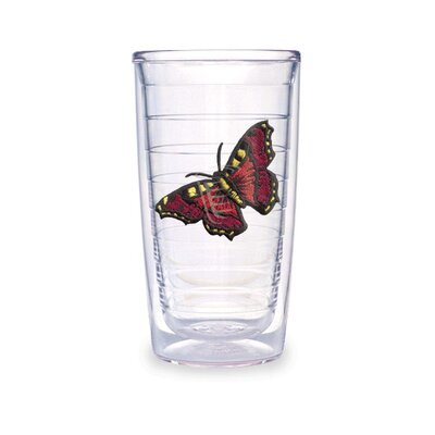 Butterfly 16oz. Mar Red Tumbler (set Of 2)