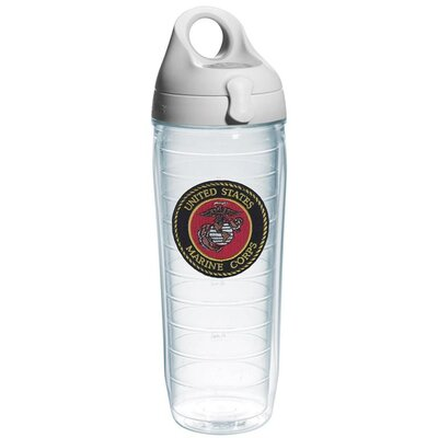 Patriotic Marine Corps Water Bottle 24 oz. Plastic 1069241