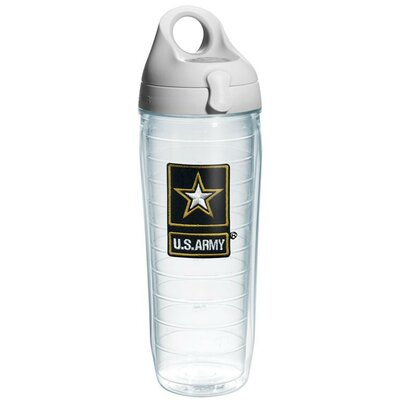 Patriotic U.S. Army Star Water Bottle Plastic 1076538