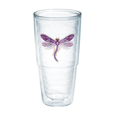 Garden Party Dragonfly Shimmer 24 Oz. Tumbler Color: Purple 1137023