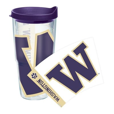 Collegiate Colossal Tumbler with Lid Size: 24 Oz, Team: Washington / Dark Purple Lid 1143497