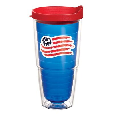 MLS Sapphire Tumbler with Lid Team: New England Revolution, Size: 24 oz. 1131907