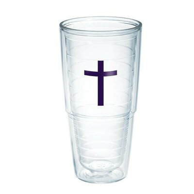 Celebrate Life Cross Tumbler Size: 24 oz., Color: Purple 1030748