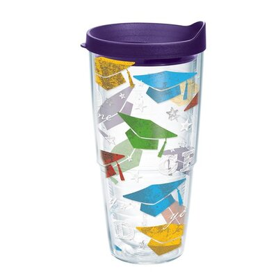 Celebrate Life Hats Off Grad Tumbler Size: 24 oz., Color: Purple 1169624