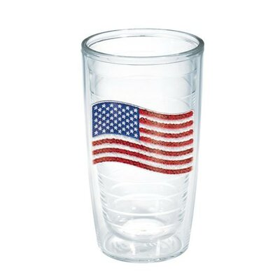 American Pride Sequin American Flag Tumbler Size: 16 oz., Lid Included: No 1136468