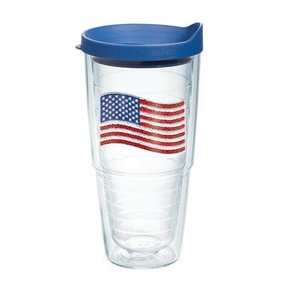 American Pride Sequin American Flag Tumbler Lid Included: Yes, Size: 24 oz. 1136460