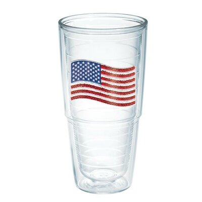 American Pride Sequin American Flag Tumbler Size: 24 oz., Lid Included: No 1136471