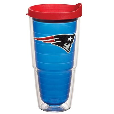 NFL Sapphire Tumbler with Lid Team: New England Patriots, Size: 24 oz. 1058626