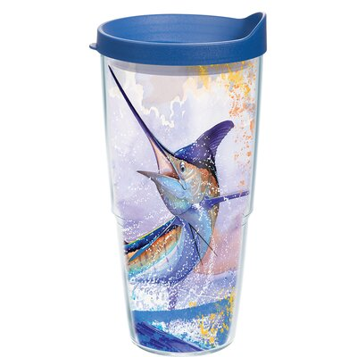 Guy Harvey Marlin Plastic Travel Tumbler Size: 24 oz. 1133266