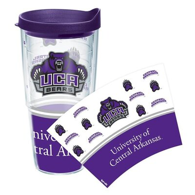 Collegiate Wrap Tumbler Lid/No Lid: Lid Included, Size: 24 Oz, Team: University of Central Arkansas Purple 1141136
