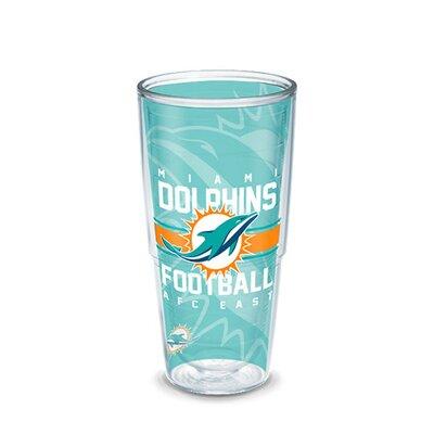 NFL 16 oz. Plastic Every Day Glass Size: 24 oz., Team: Miami Dolphins 1195007