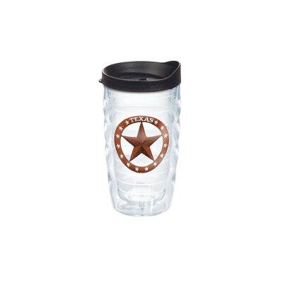 American Pride Texas Star Wavy 10 oz. Plastic Travel Tumbler 1105465