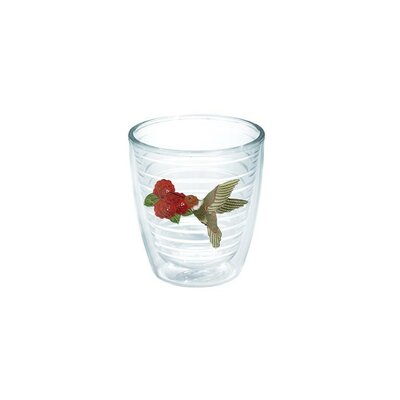 Garden Party Hummingbird Plastic Every Day Glass Size: 12 oz., Color: Red 1035283