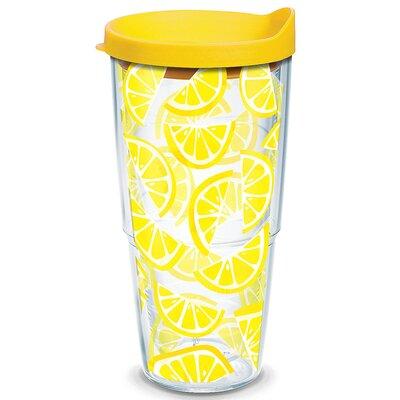 Eat Drink Be Merry Lemon Trend Plastic Travel Tumbler 1243344
