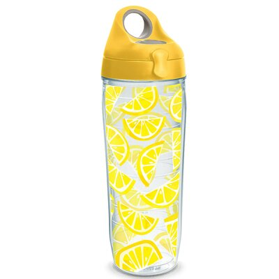 Eat Drink Be Merry Lemon Trend 24 oz. Plastic Water Bottle 1243345