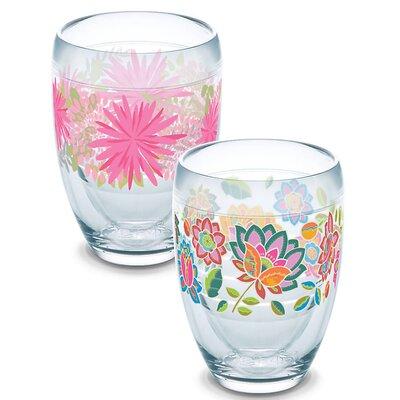 Garden Party 2 Piece 9 oz. Stemless Wine Glass Set 1232708